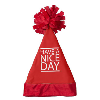Nice Day Text Design Santa Hat