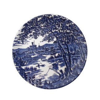 Nice decorative porcelain blue plate