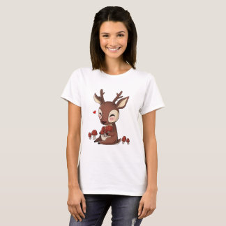 Nice deer with mushrooms T-Shirt