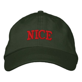 """NICE"" Embroidery Cap Embroidered Baseball Cap"