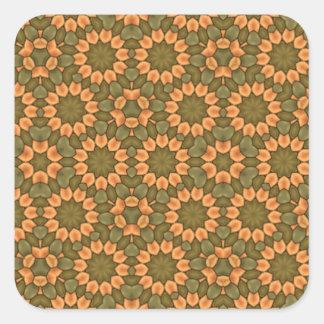 Nice flower pattern square sticker