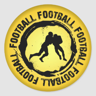 Nice Football Seal Round Sticker