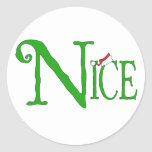 Nice for Christmas Classic Round Sticker