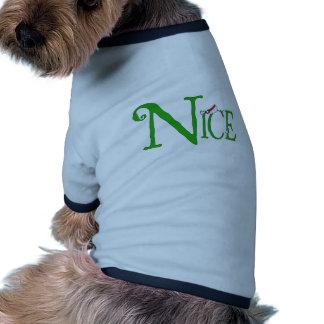 Nice for Christmas Dog Tee Shirt