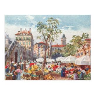 Nice, France Flower Market Postcard