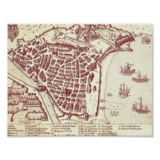 Nice France Map Poster