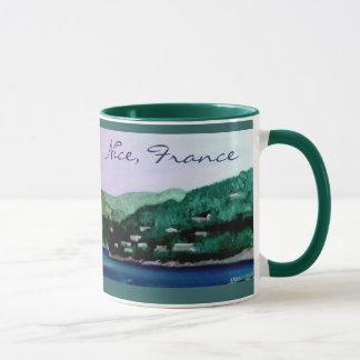 Nice, France painting mug
