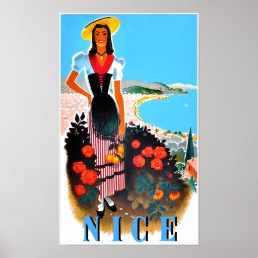 Nice, France travel poster