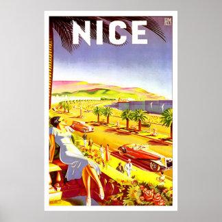 NICE FRANCE VINTAGE ART PRINT POSTER