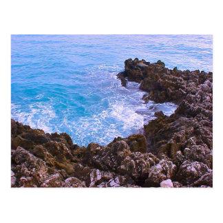 Nice, French Riviera, rocky  bay, Mediterranean Postcard