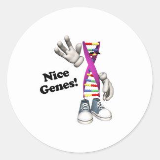 Nice Genes Funny DNA Round Sticker
