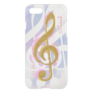 nice girly cool & stylish treble clef musical note iPhone 7 case