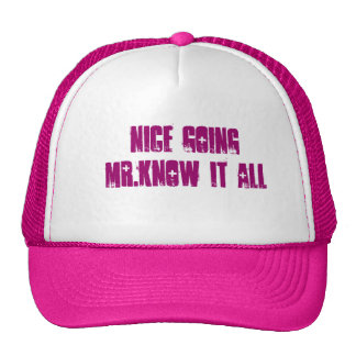 nice going mr.know it all cap