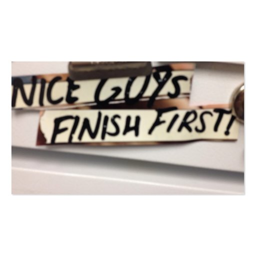 Nice Guys finish first refrig graphic Business Card Template