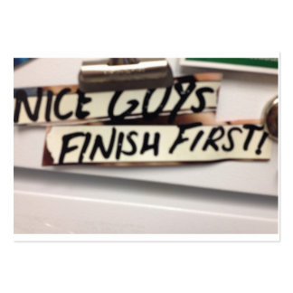 Nice Guys finish first refrig graphic Pack Of Chubby Business Cards