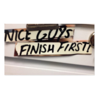 Nice Guys finish first refrig graphic Pack Of Standard Business Cards