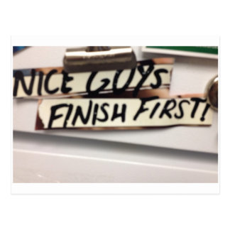 Nice Guys finish first refrig graphic Postcard