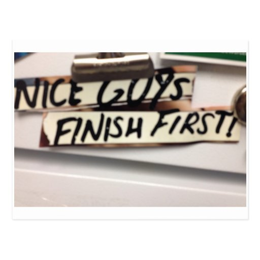 Nice Guys finish first refrig graphic Post Card