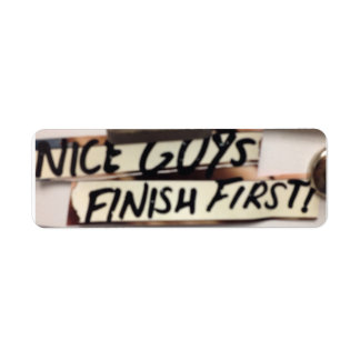 Nice Guys finish first refrig graphic Return Address Label