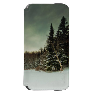 Nice hike over frozen lake in state of Vermont Incipio Watson™ iPhone 6 Wallet Case