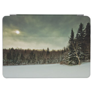 Nice hike over frozen lake in state of Vermont iPad Air Cover