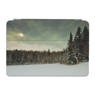 Nice hike over frozen lake in state of Vermont iPad Mini Cover