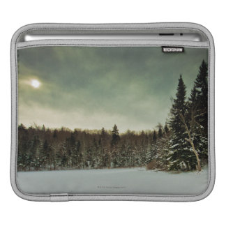 Nice hike over frozen lake in state of Vermont iPad Sleeve