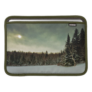 Nice hike over frozen lake in state of Vermont Sleeve For MacBook Air