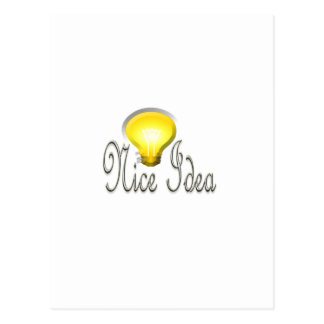 NIce Idea Lamp Light Postcard