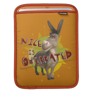 Nice Is Overrated iPad Sleeve