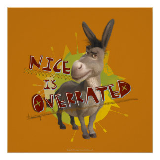 Nice Is Overrated Poster