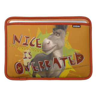 Nice Is Overrated Sleeve For MacBook Air
