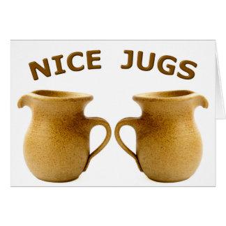 Nice Jugs Greeting Card