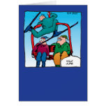 Nice Jump! Skiers Birthday Card