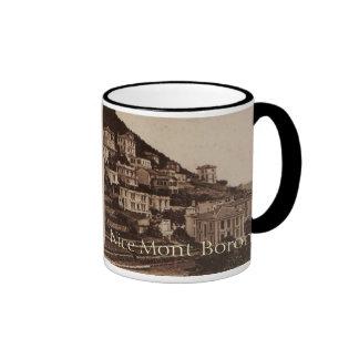 Nice Le Mont Boron Cote de Azur France Ringer Coffee Mug