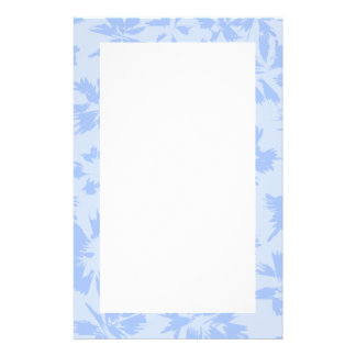 Nice light blue floral pattern. stationery