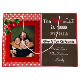 Nice List Is Overrated Christmas Gift Bag