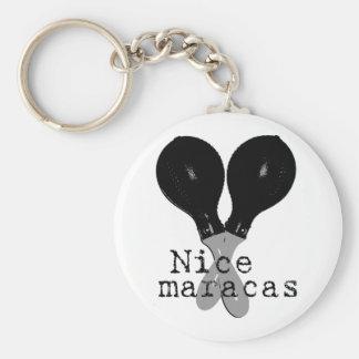 Nice Maracas Key Ring