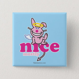 Nice Mostly 15 Cm Square Badge