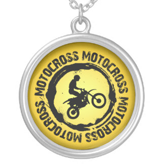 Nice Motocross  Seal 1 Silver Plated Necklace