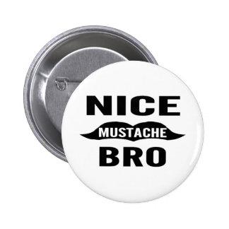 Nice Mustache Bro 6 Cm Round Badge