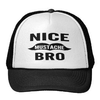 Nice Mustache Bro Cap