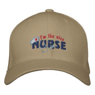 Nice Nurse Embroidered Hat
