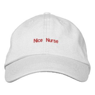 Nice Nurse Hat Embroidered Baseball Cap