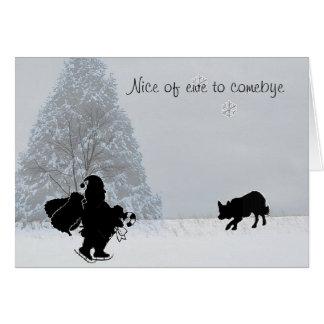 """""""Nice of ewe to comebye""""~Border Collie Christmas Card"""
