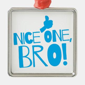 Nice one Bro! Kiwi New Zealand funny Christmas Ornaments