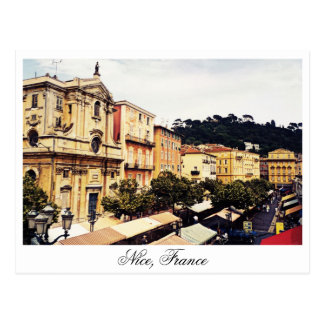 Nice, open market, Provence France Postcard
