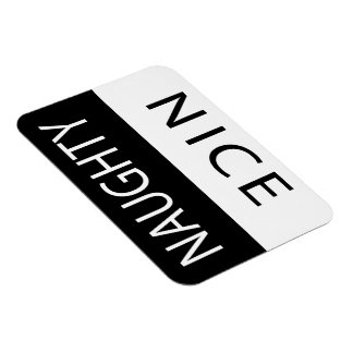 Nice or Naughty Funny Flipable Rectangular Photo Magnet