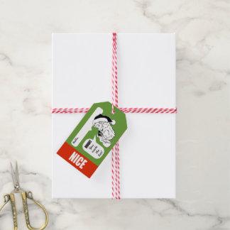 Nice or Naughty Santa | Holiday Christmas Gift Tag