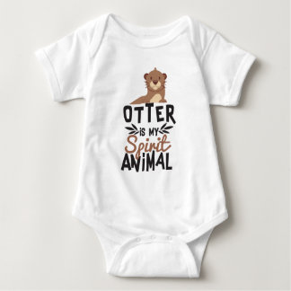 Nice Otter Is My Spirit Animal Print Baby Bodysuit
